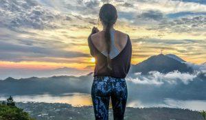 amanecer en el volcan batur